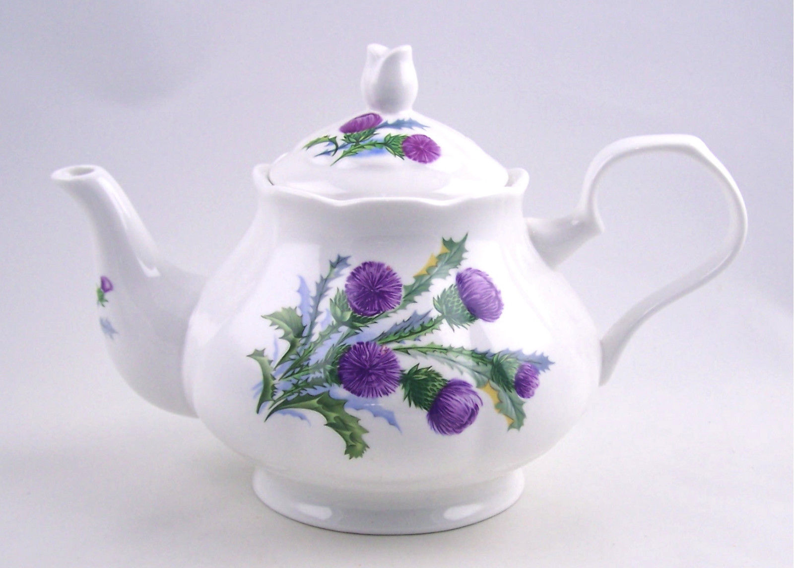 english fine bone china 6 cup teapot thistle chintz adderley china england joanbet 39 s. Black Bedroom Furniture Sets. Home Design Ideas