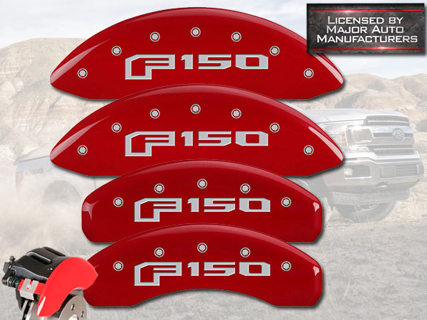 SILVER CHARACTERS FRONT AND REAR: RAPTOR RED SET OF 4 CALIPER COVERS