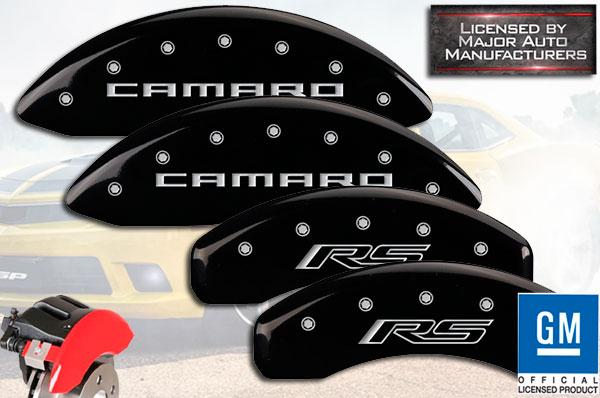 MGP Caliper Covers Camaro Engraving For 2016-2020 Chevy Camaro w//JL9-Black
