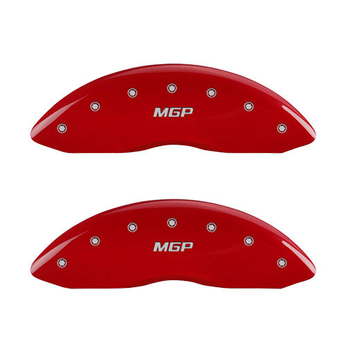 MGP Caliper Covers Set of 4 engraved for 2007-2013 Mazda 3 Mazdaspeed//S 2.3L-Red