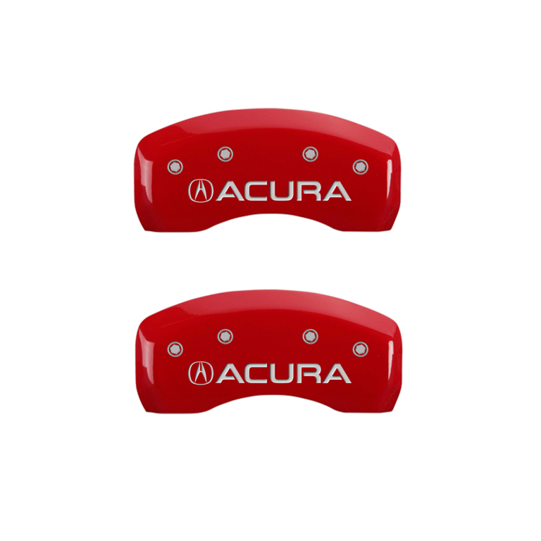 """2015-2017 """"Acura"""" TLX Front + Rear Red Engraved MGP Brake"""