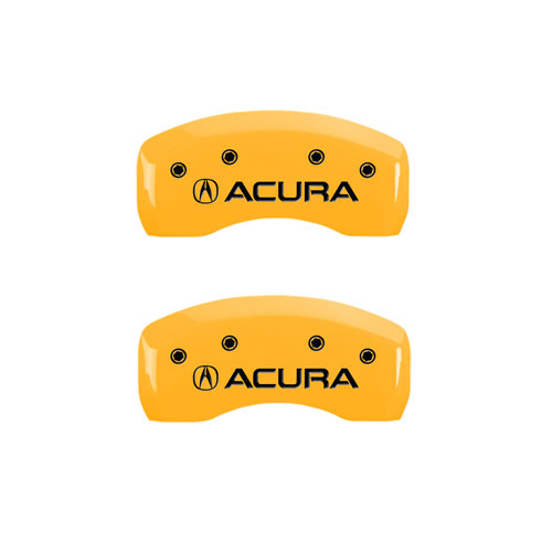 "2007-2008 ""Acura"" TL Type S Front + Rear Yellow MGP Brake"