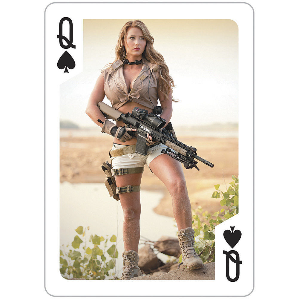 New Tactical Girls Poker Playing Cards Exotic Weapons Sexy Women Ar15 Ak47 Glock, Aps -6613