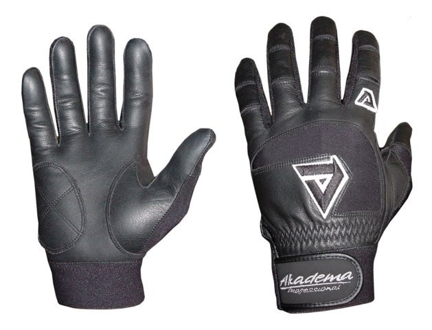 Akadema Black Professional Batting Gloves Medium