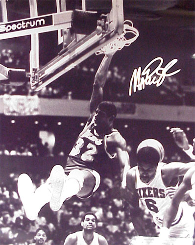 Magic Johnson Signed 8X10 Photo - Dunking Over Jul