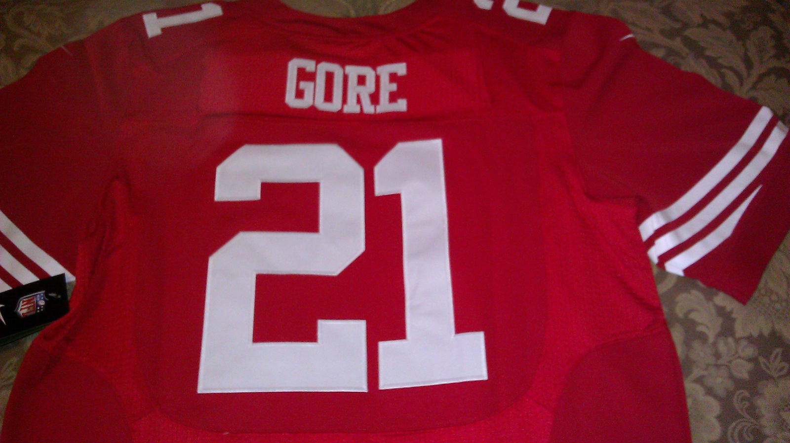 Frank Gore Red Jersey