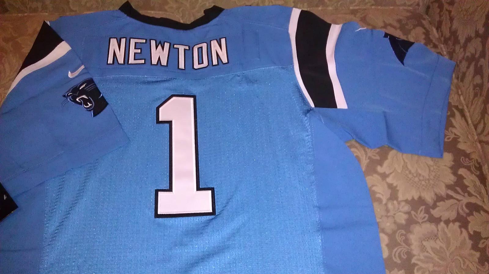 Cam Newton Blue Jersey sz 44 large