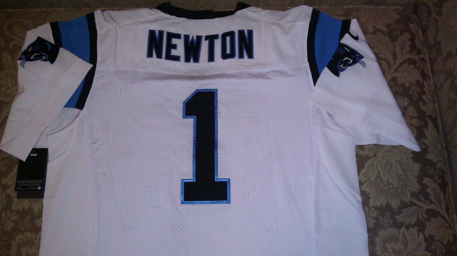 Cam Newton White Jersey