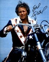 EVEL KNIEVEL SIGNED 8x10 PHOTO - CLOSEUP - COLOR