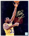 Magic Johnson Signed 16X20 Photo - Close Up Layup