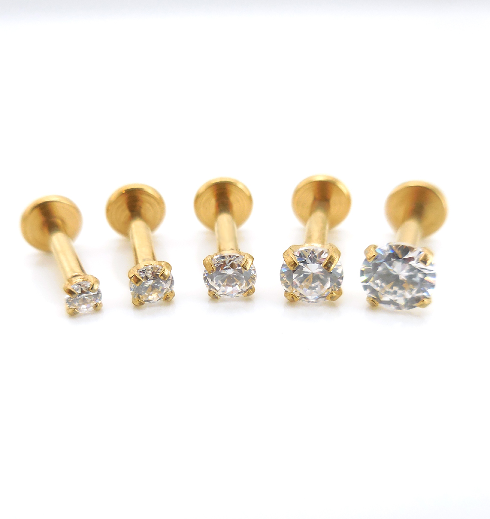 16G-1-4-034-6mm-Triple-Forward-Helix-Stud-Earring-Cartilage-2-4mm-Gold-Tone-Crystal