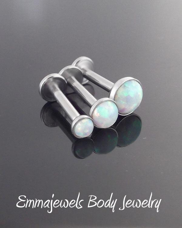 3 Stück labret kristall kugel piercing chirurgenstahl 1