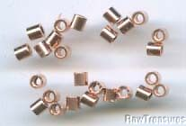 Solid Copper 2x2mm Crimp Tubes 144 pieces