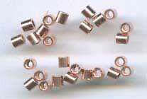 2x2mm Copper Plated Crimp Tubes 100 pieces