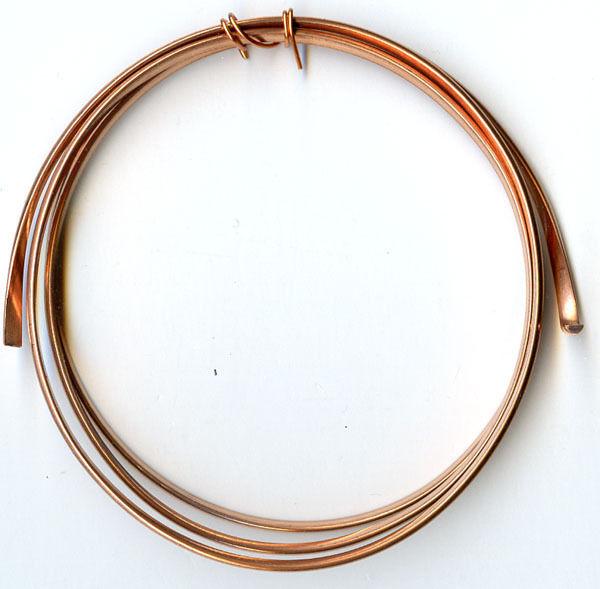 10 gauge Solid Copper Wire Half Round - 3 Feet