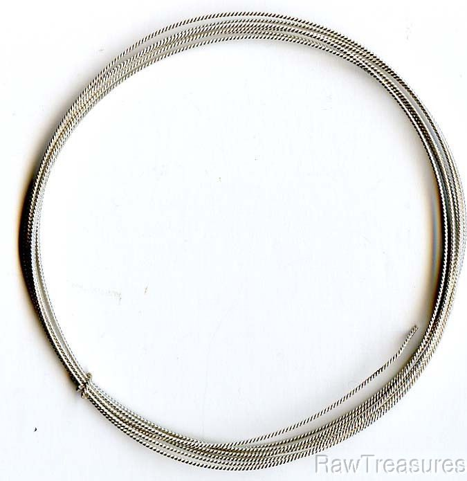18 Gauge .925 Sterling Silver Twist Wire, Dead Sof