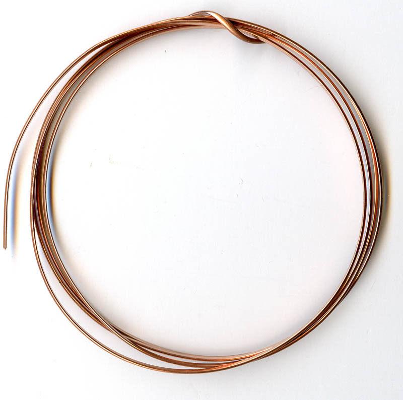 12 gauge Solid Copper Half Round Wire - 5 Feet_ Fr
