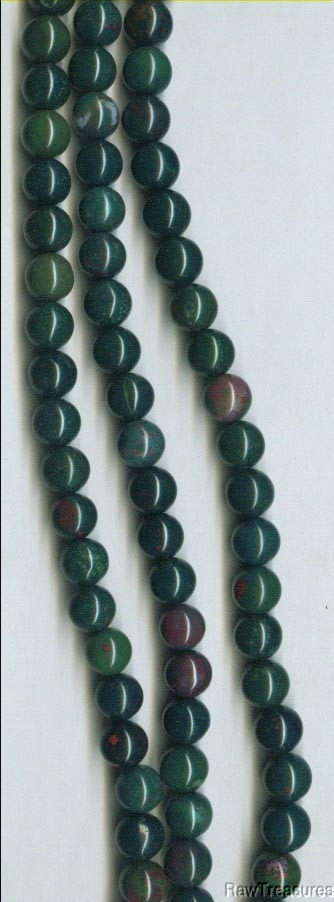 "African Bloodstone 8mm Beads - 16"" Strand"