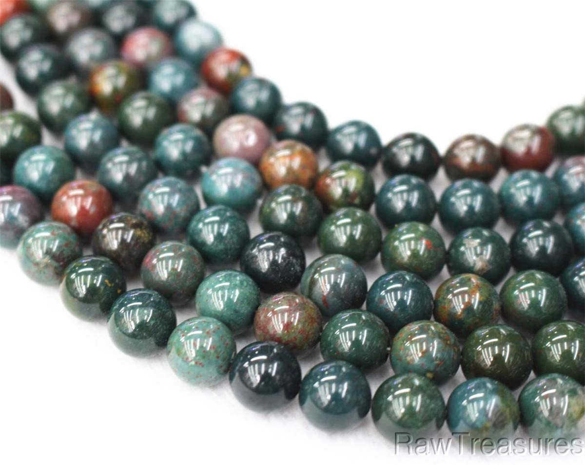 """African Bloodstone 8mm Beads - 16"""" Strand"""