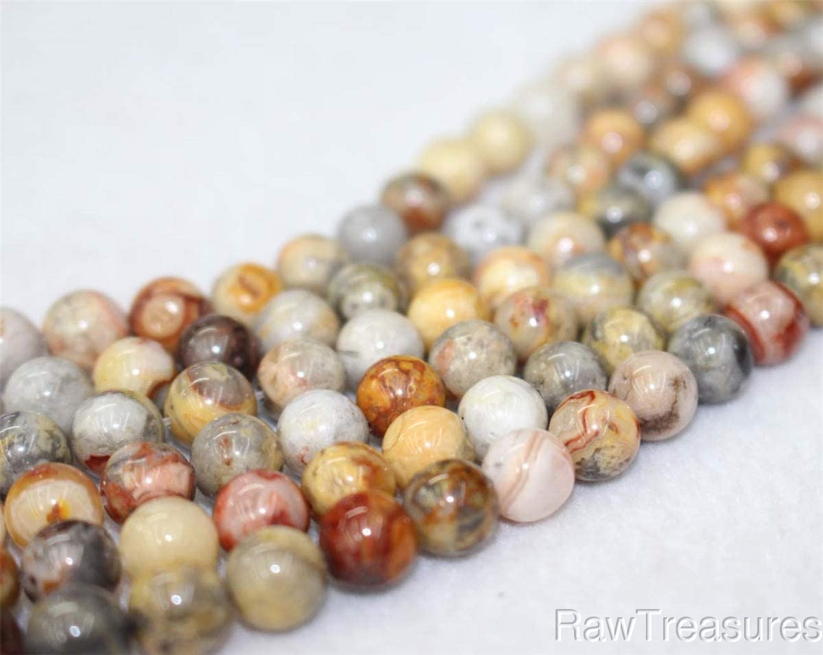 4mm Crazy Lace Agate Gemstone Round Beads 16 inch