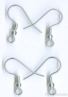 Earwires Ball/Coil Surgical Steel w/ SP (72 Pair)