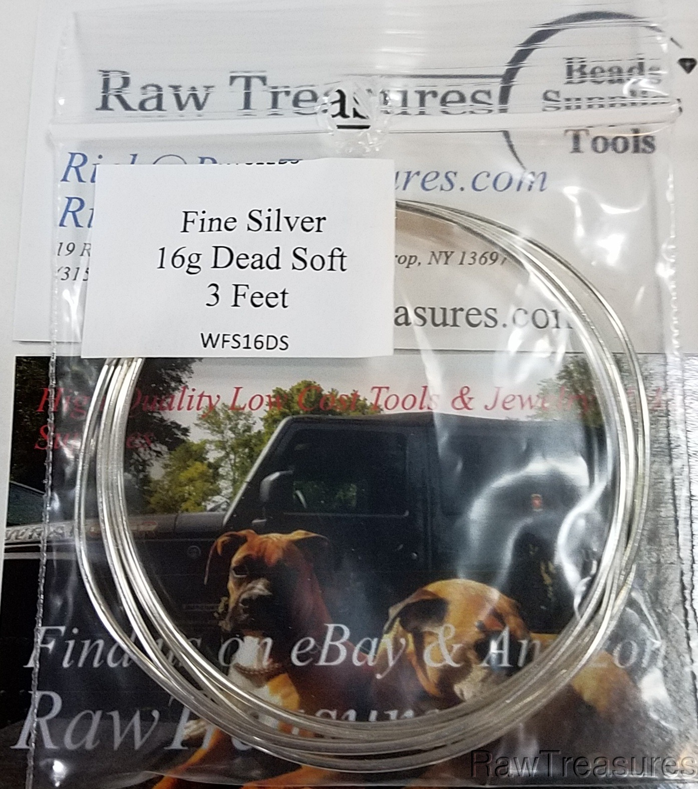 16 gauge .999 Fine Silver Wire Soft Temper  3 Feet