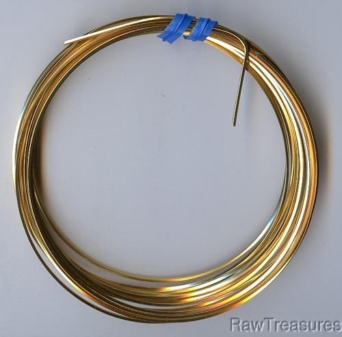 21 gauge Gold Plate Wire Square - 12 Feet