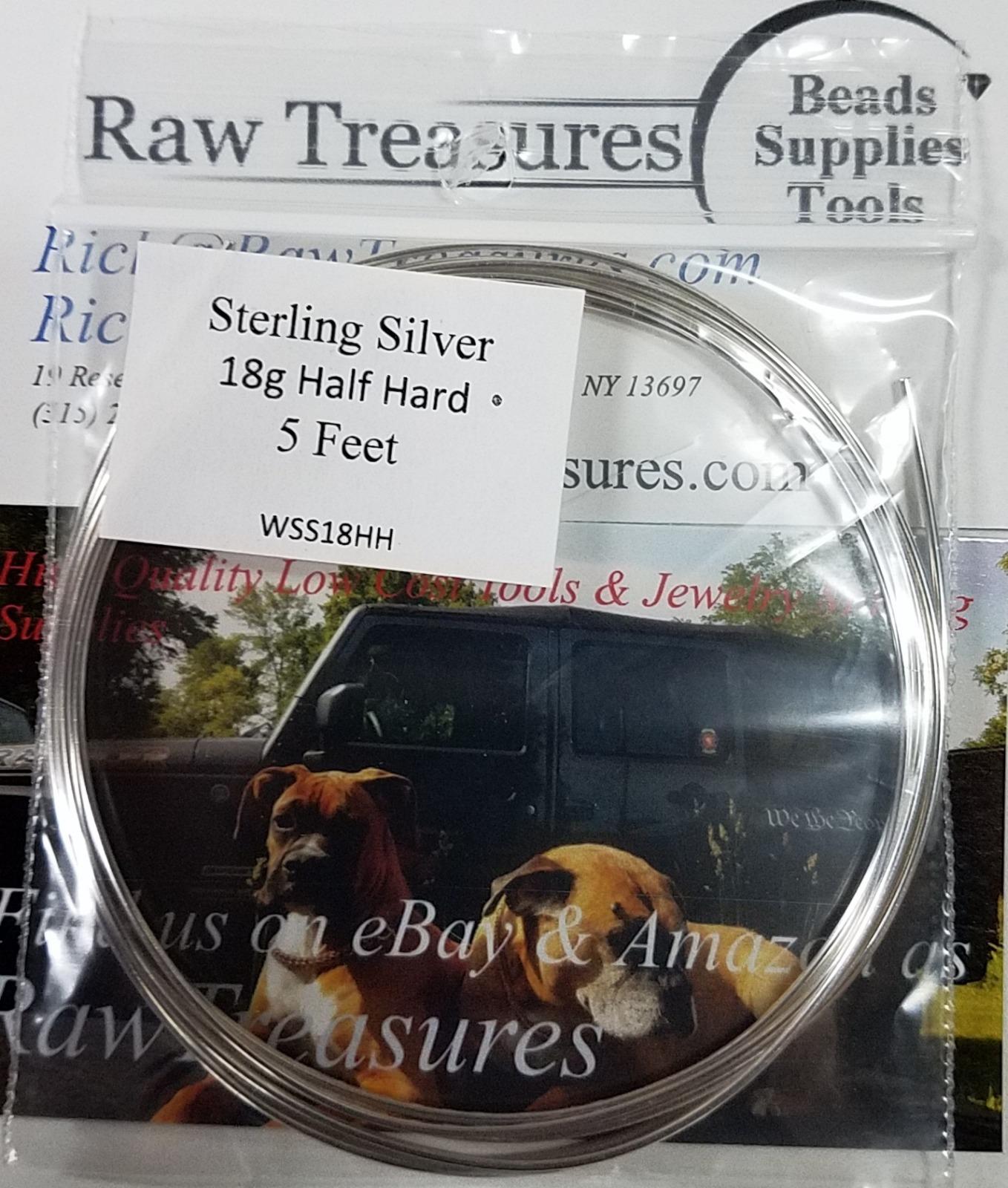 18 Gauge .925 Sterling Silver Half Hard Wire Round
