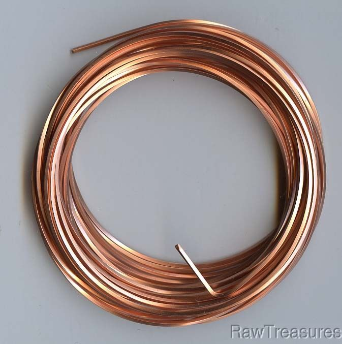 16 gauge Solid Copper Wire SQUARE - 5 Feet
