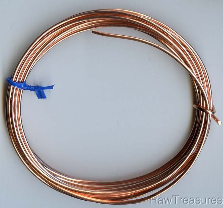 14 gauge Solid Copper Wire Round - 10 Feet_ From R