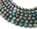 "African Bloodstone 6mm Beads - 16"" Strand"