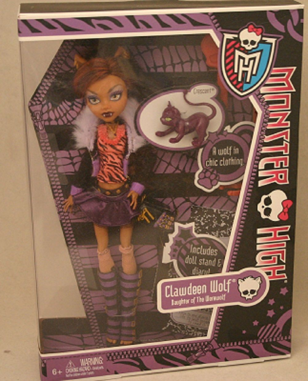 Monster High CLAWDEEN WOLF w/Diary Doll NEW!