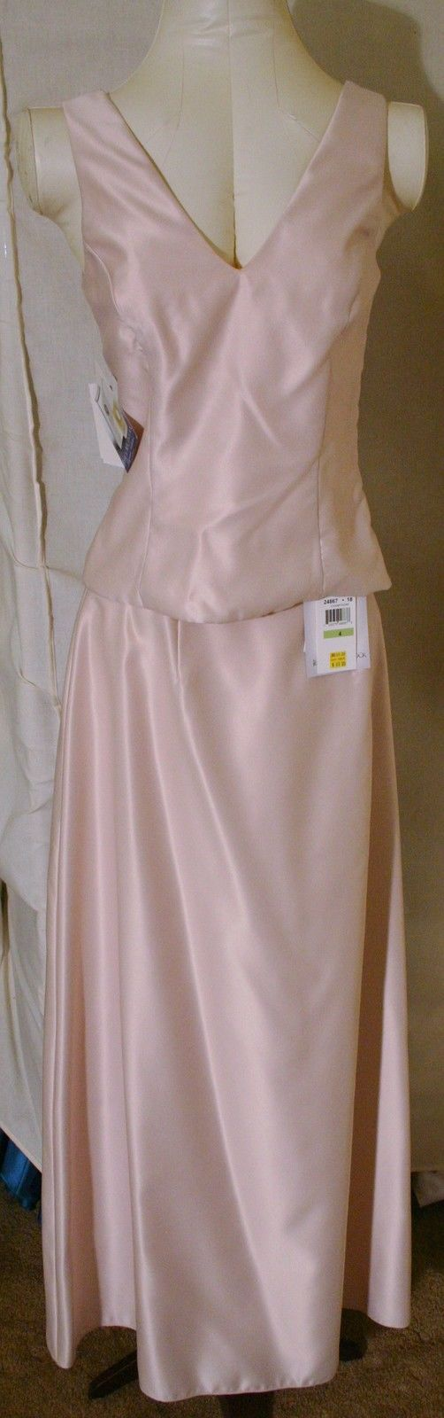 JESSICA McCLINTOCK Champagne Top and Skirt NWT Siz