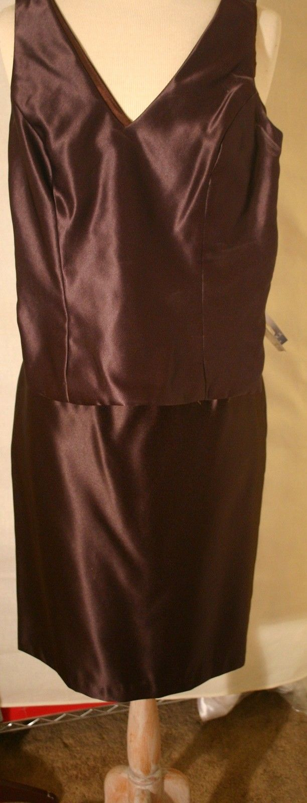 JESSICA McCLINTOCK BrownTop and Skirt NWT! Size 6