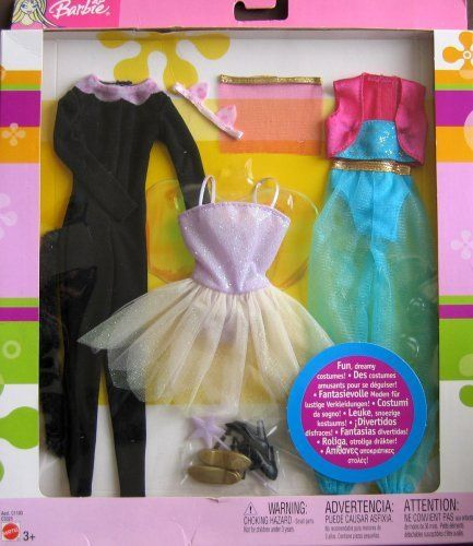 Barbie FUN DREAMY Fashions 3 Costumes Set NEW!