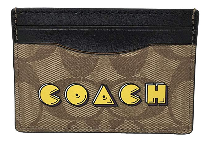 Coach Signature Pac-Man ID Credit Card Case Holder