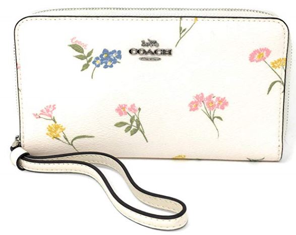 Coach Large Phone Wallet Wristlet with Multi Flora