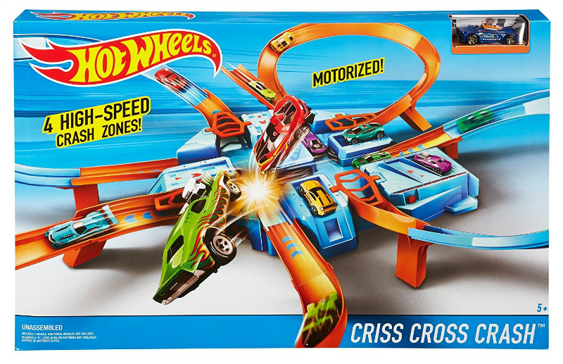 Hot Wheels Criss Cross Motorized Track Set Brand N