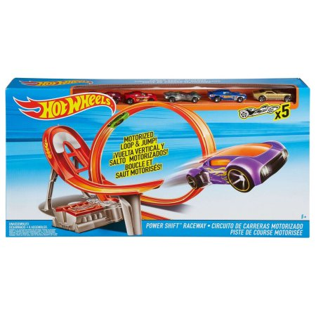 Hot Wheels Power Shift Raceway Track Set Loop & Ju