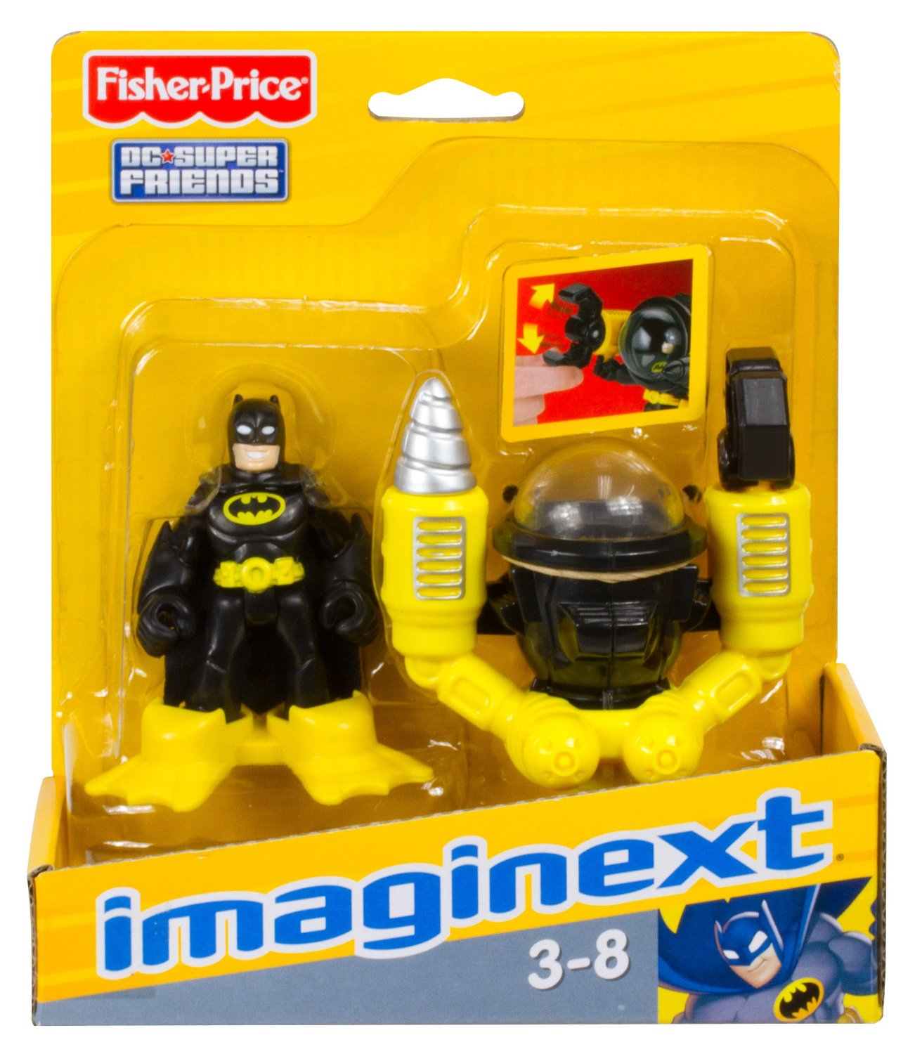 FISHER PRICE IMAGINEXT BATMAN & SUB Figure New!!