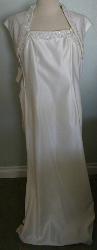 JESSICA McCLINTOCK Beige Dress Gown NEW Size 8