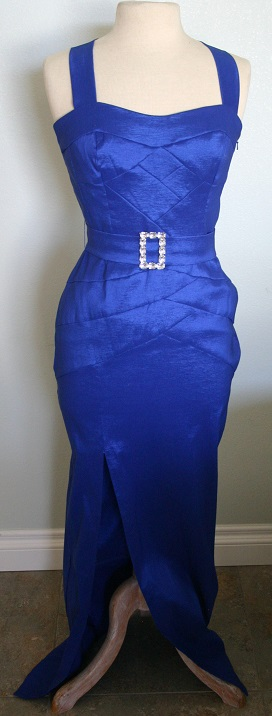 JESSICA McCLINTOCK Blue Long Dress NWT Size 4