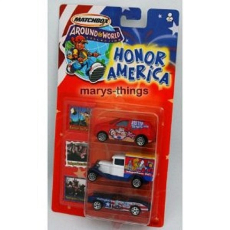 MATCHBOX AROUND THE WORLD HONOR AMERICA 3 CARS New
