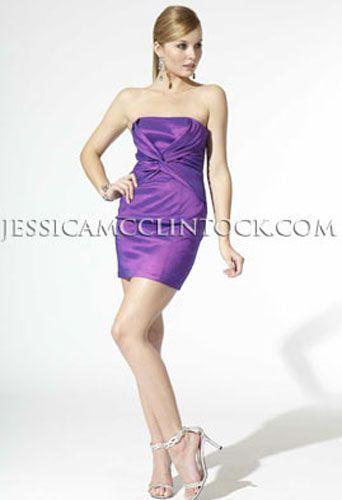 JESSICA McCLINTOCK Purple Taffeta Dress NWT! Size