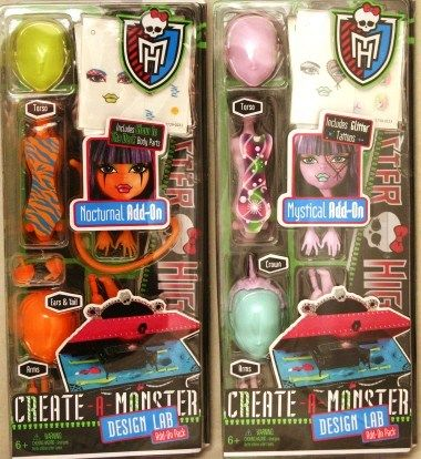 MONSTER HIGH Create-a-Monster Design Labs Nocturna
