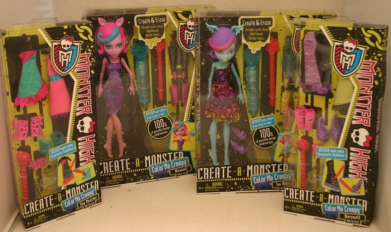 MONSTER HIGH Create-a-Monster CREEPY Werewolf & Se