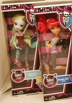Monster High DANCE CLASS Howleen Wolf and Lagoona