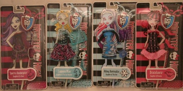 2012 MONSTER HIGH Lagoona Spectra Draculaura Abbey