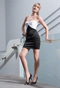 JESSICA McCLINTOCK Black & Beige Dress NWT Size 11
