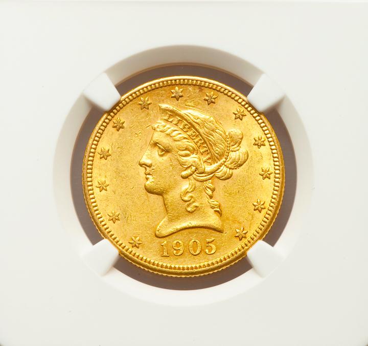 1905 S $10 Liberty Gold Eagle NGC AU58